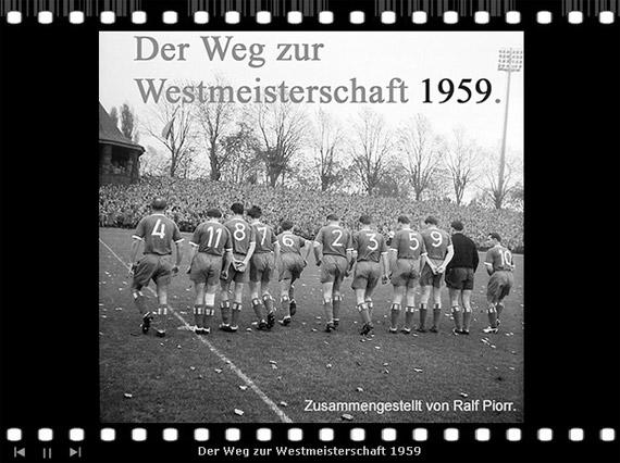 """Dia-Show """"Der Weg zur Westmeisterschaft 1959"""""""